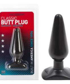 Classic Butt Plug - Black 14 cm (5.5'') Medium Smooth Butt Plug