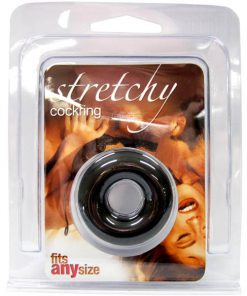 Stretchy Cock Ring - Black Donut-Shaped Cock Ring
