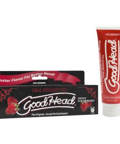 GoodHead Oral Delight Gel - Sweet Strawberry Flavoured Oral Sex Lotion - 113 g Tube