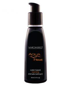 Wicked Aqua Heat - Warming Water Based Lubricant - 60 ml (2 oz) Bottle