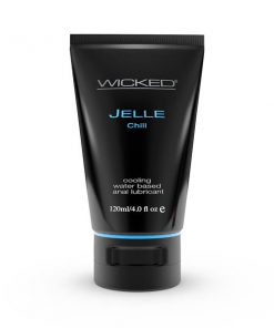 Wicked Jelle Chill - Cooling Water Based Anal Lubricant - 120 ml (4 oz) Bottle