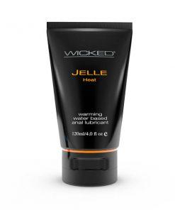 Wicked Jelle Heat - Warming Water Based Anal Lubricant - 120 ml (4 oz) Bottle