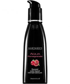 Wicked Aqua Pomegranate - Pomegranate Flavoured Water Based Lubricant - 120 ml (4 oz) Bottle