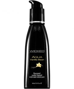 Wicked Aqua Vanilla Bean - Vanilla Bean Flavoured Water Based Lubricant - 60 ml (2 oz) Bottle