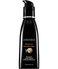Wicked Aqua Cinnamon Bun - Cinnamon Bun Flavoured Water Based Lubricant - 120 ml (4 oz) Bottle