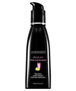 Wicked Aqua Pink Lemonade - Pink Lemonade Flavoured Water Based Lubricant - 60 ml (2 oz) Bottle
