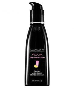 Wicked Aqua Pink Lemonade - Pink Lemonade Flavoured Water Based Lubricant - 120 ml (4 oz) Bottle