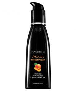Wicked Aqua Sweet Peach - Sweet Peach Flavoured Water Based Lubricant - 120 ml (4 oz) Bottle
