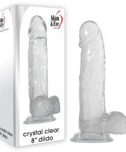 Adam & Eve Crystal Clear 8'' Dildo - Clear 20.3 cm (8'') Dong
