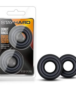 Stay Hard - Donut Rings Oversized - Black Large Cock Rings - Set of 2