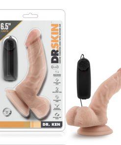 Dr. Skin Dr. Ken - Flesh 16.5 cm (6.5'') Vibrating Dong