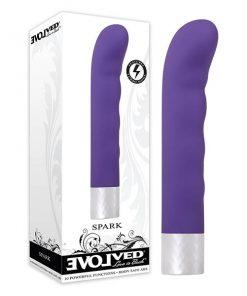 Spark - Purple 18.75 cm Vibrator with Turbo Boost