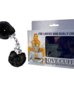 Love Cuffs - Black Fluffy Hand Cuffs