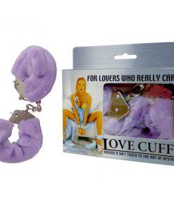 Love Cuffs - Purple Fluffy Skin Hand Cuffs