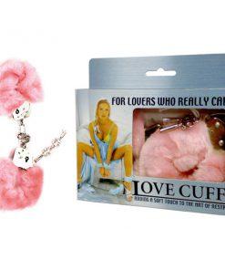 Love Cuffs - Pink Fluffy Hand Cuffs