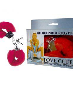 Love Cuffs - Red Fluffy Hand Cuffs