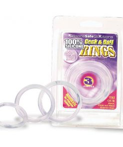 Cock & Ball Rings - Clear Cock Rings - Set of 3