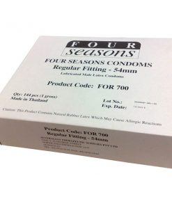 Four Seasons Regular Condoms - Bulk Box of 144