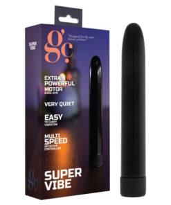 GC. Super Vibe - Black 17.5 cm Vibrator