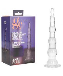 GC. Anal Plug - Clear 16.5 cm Anal Plug