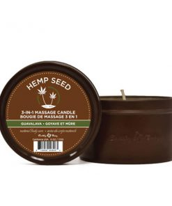 Hemp Seed 3-In-1 Massage Candle - Guavalava (Guava & Blackberry) - 170 g