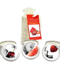Edible Massage Candle Threesome - Cherry