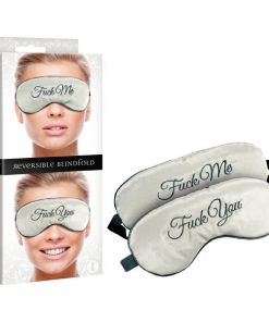 Fuck Me/Fuck You Reversible Blindfold - Padded Reversible Blindfold