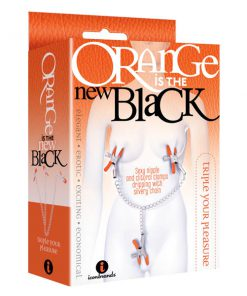 Orange Is The New Black - Triple Your Pleasure - Metal Nipple & Clit Clamps with Chain