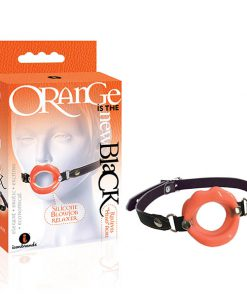 Orange Is The New Black - Silicone Blowjob Relaxer - Black/Orange Mouth Restraint