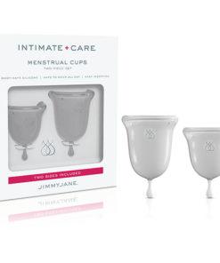 Jimmyjane Intimate Care Menstrual Cups - Clear - 2 Piece Set