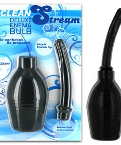 Cleanstream Deluxe Enema Bulb - Black Douche