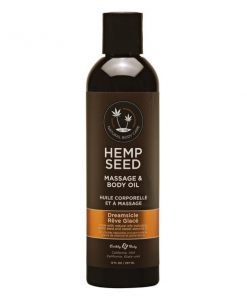 Hemp Seed Massage & Body Oil - Dreamsicle (Tangerine & Plum) Scented - 237 ml Bottle