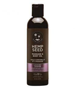 Hemp Seed Massage & Body Oil - Lavender Scented - 237 ml Bottle