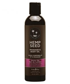 Hemp Seed Massage & Body Oil - Skinny Dip (Vanilla & Fairy Floss) Scented - 237 ml Bottle