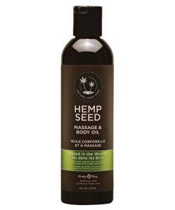 Hemp Seed Massage & Body Oil - Naked In The Woods (White Tea & Ginger) Scented - 237 ml Bottle
