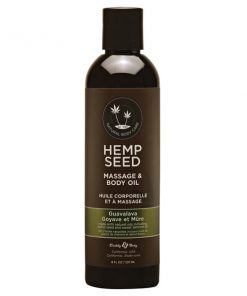 Hemp Seed Massage & Body Oil - Guavalava (Guava & Blackberry) Scented - 237 ml Bottle
