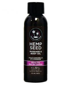 Hemp Seed Massage & Body Oil - Skinny Dip (Vanilla & Faiy Floss) Scented - 59 ml Bottle