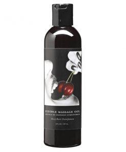 Edible Massage Oil - Cherry Burst Flavoured - 237 ml Bottle