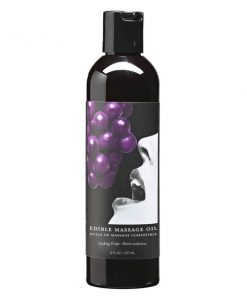 Edible Massage Oil - Gushing Grape Flavoured - 237 ml Bottle