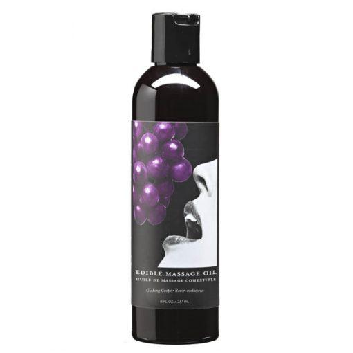 Edible Massage Oil - Gushing Grape Flavoured - 237 ml Bottle