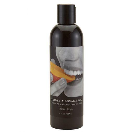 Edible Massage Oil - Mango Flavoured - 237 ml Bottle
