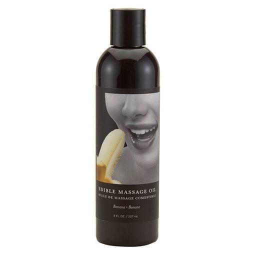 Edible Massage Oil - Banana Flavoured - 237 ml Bottle
