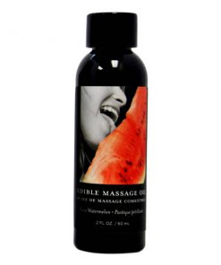 Edible Massage Oil - Juicy Watermelon Flavoured - 59 ml Bottle