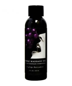 Edible Massage Oil - Gushing Grape Flavoured - 59 ml Bottle