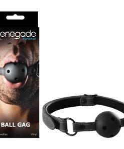 Renegade Bondage - Ball Gag - Black Mouth Restraint
