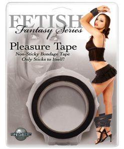 Fetish Fantasy Series Pleasure Tape - Black Bondage Tape - 10 m length