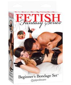 Fetish Fantasy Series Beginner's Bondage Set - Black Bondage Kit - 7 Piece Set