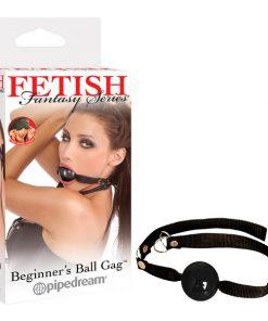 Fetish Fantasy Series Beginner's Ball Gag - Black Ball Gag