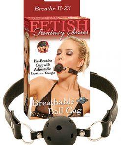 Fetish Fantasy Series Breathable Ball Gag - Black Ball Gag