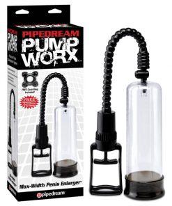 Pump Worx Max-Width Penis Enlarger - Clear/Black Penis Pump